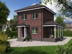 Двухэтажный жилой дом с террасой